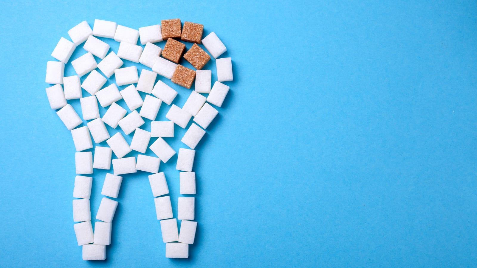 Sugar Cube Teeth With Brown Sugar Decay Cubes